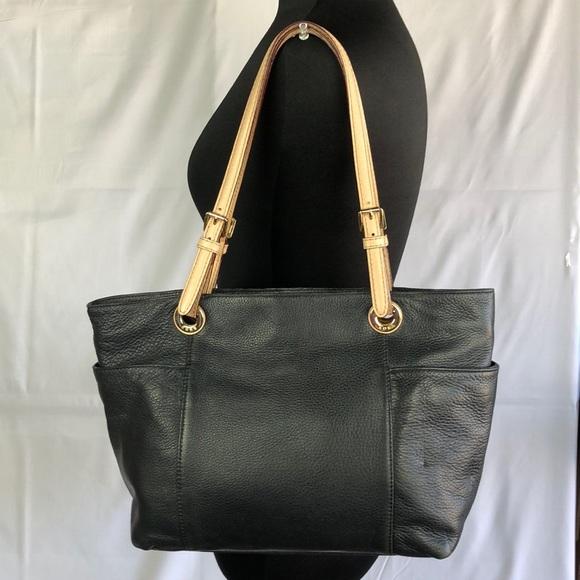 e4dc9abf085227 MICHAEL Michael Kors Black Soft Leather Tote Bag. M_5adf8f2d72ea8828fe427ce3